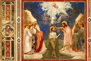 Giotto, The Baptism of Christ