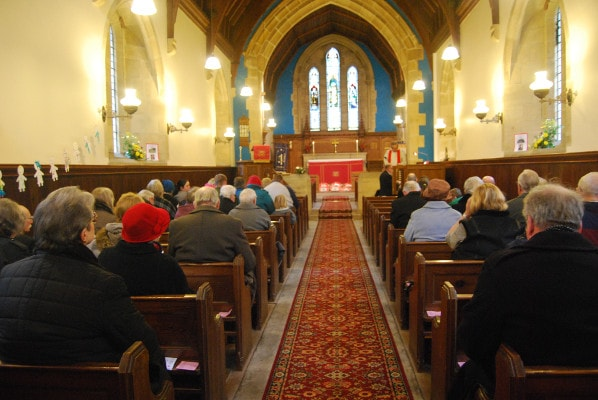 Service at Beltingham - St. Cuthberts.