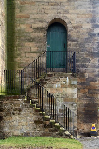 Stairs at the side of Haydon Bridge St. Cuthbert's